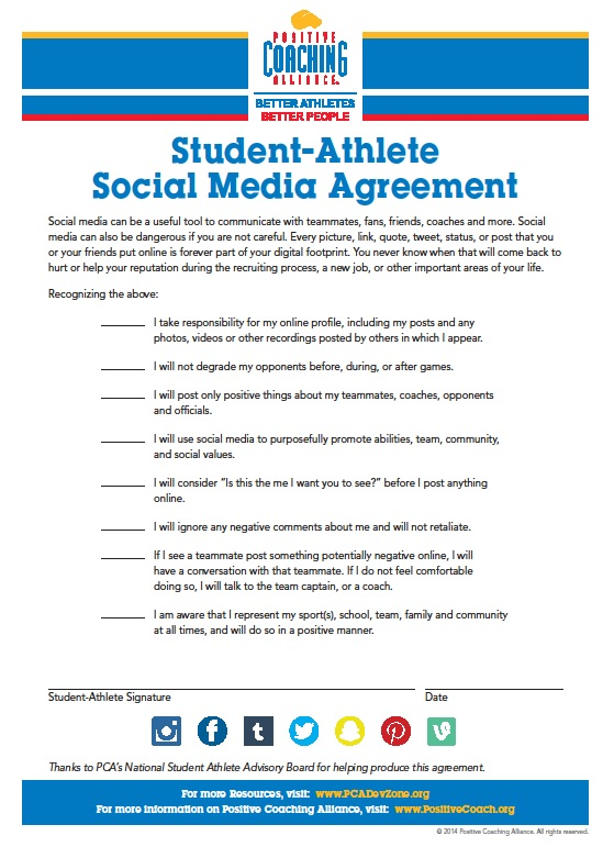 PCA Social Media Agreement