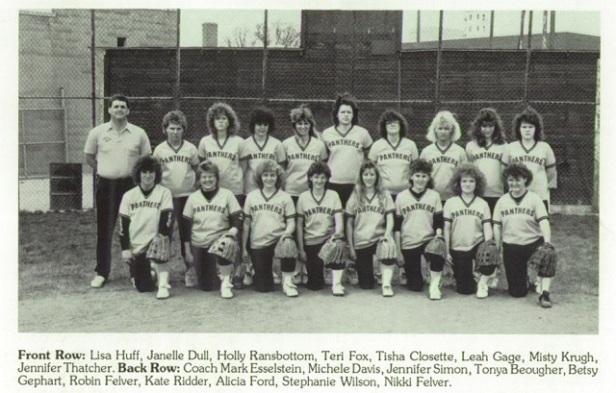 1988 Parkway Softball Team