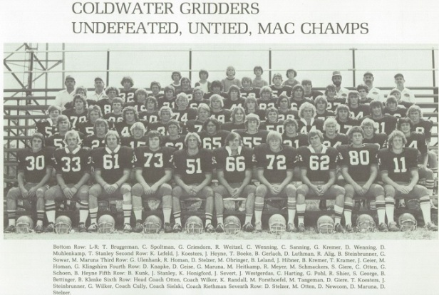 1977 Coldwater Football Team