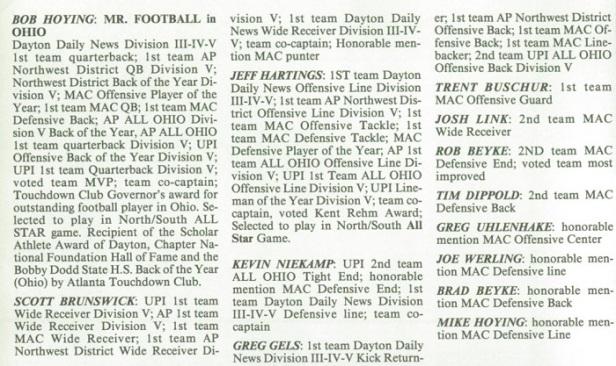 1990 SH Football Awards