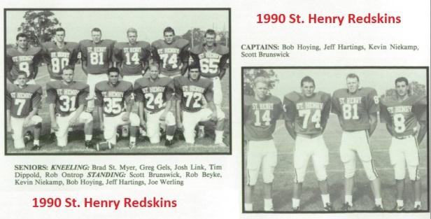 1990 SH Football Captains and Seniors