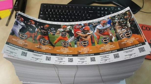 2017 Coldwater Football Tixs