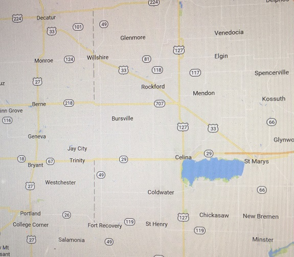 Stateline area map