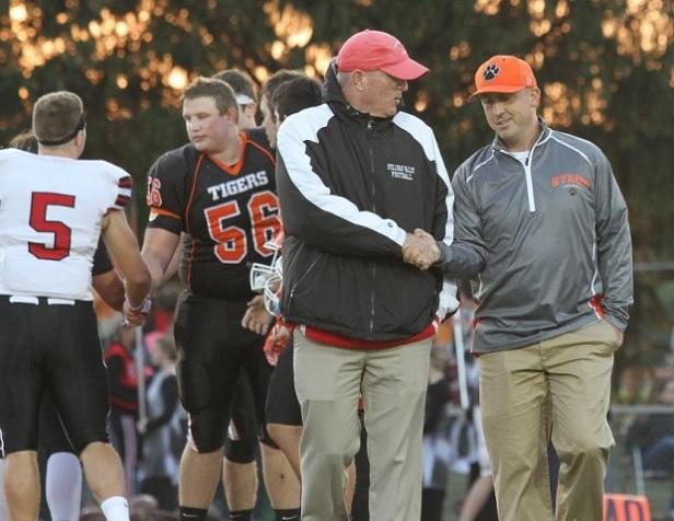 Byron Coach Boyer and Stillman Valley Coach Lalor