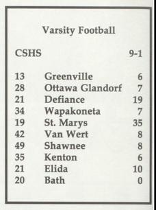 1993 Bulldog FB Scores