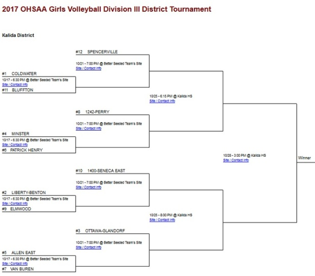 2017 Girls VB District - Kalida