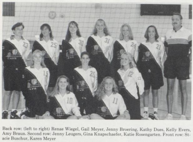 1994 Coldwater Girls VB