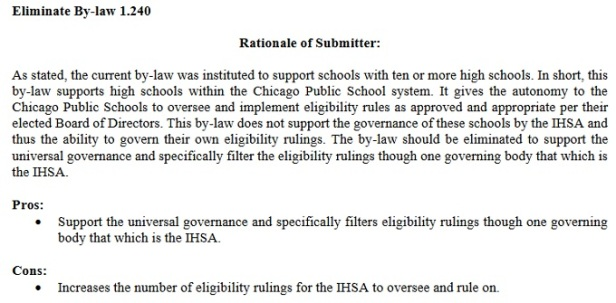 IHSA Chicago by-law