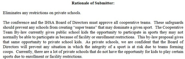 IHSA Private School coop Revise By-law 2.030
