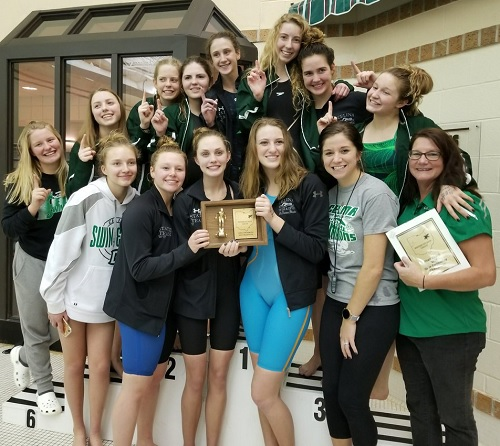 Celina Swim Team - 2018 - courtesy Celina HS Twitter
