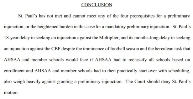 AHSAA conclusion