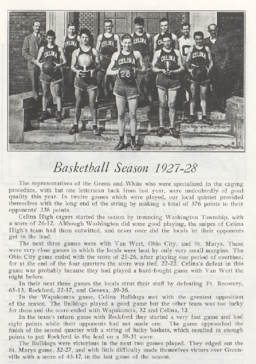 Celina 1927-28 Boys Basketball