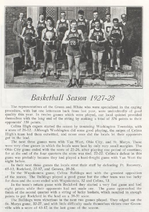 Celina 1927-28 Boys Basketball