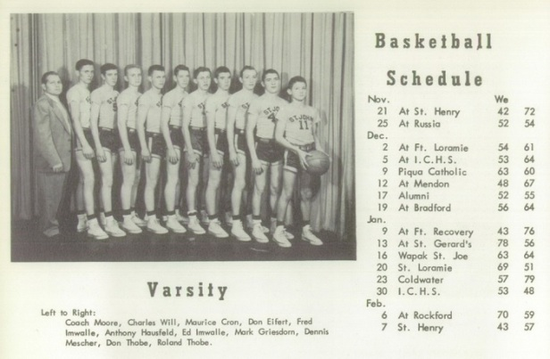 1953 st. john hs boys basketball