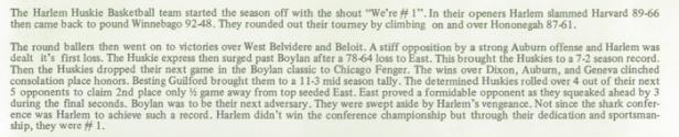 1975 Harlem Boys Basketball review