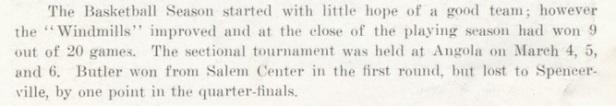 1936-37 Butler Boys Basketball write up