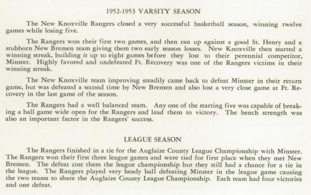 1953 NK Boys Basketball review