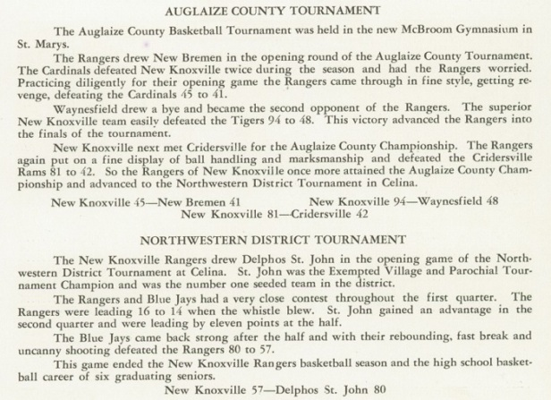 1953 NK Boys Basketball tourney review
