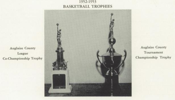 1953 NK Boys Basketball trophies