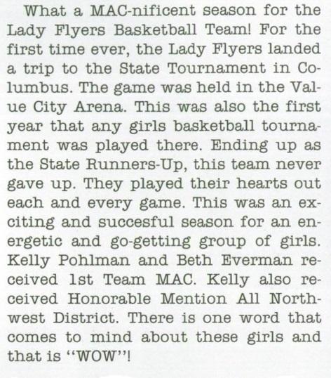2000 ML Girls Basketball recap