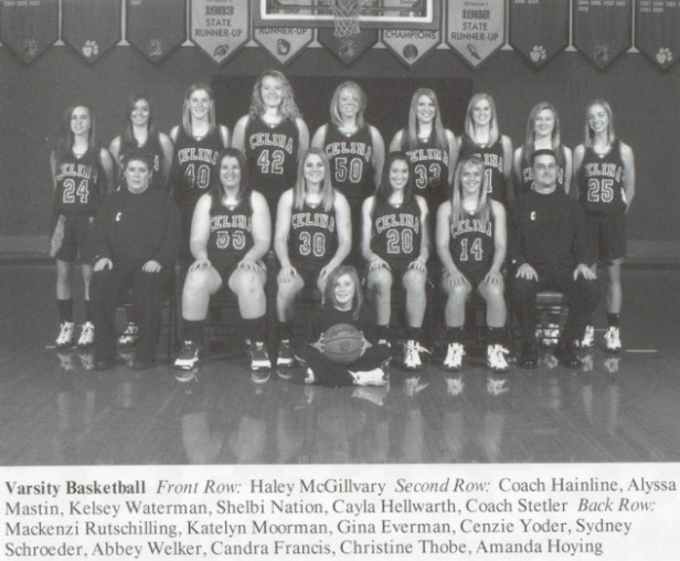 2008-09 Celina Girls BB team