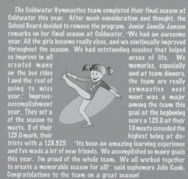 2005 gym summary