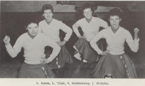 1960 mendon-Union Cheerleaders