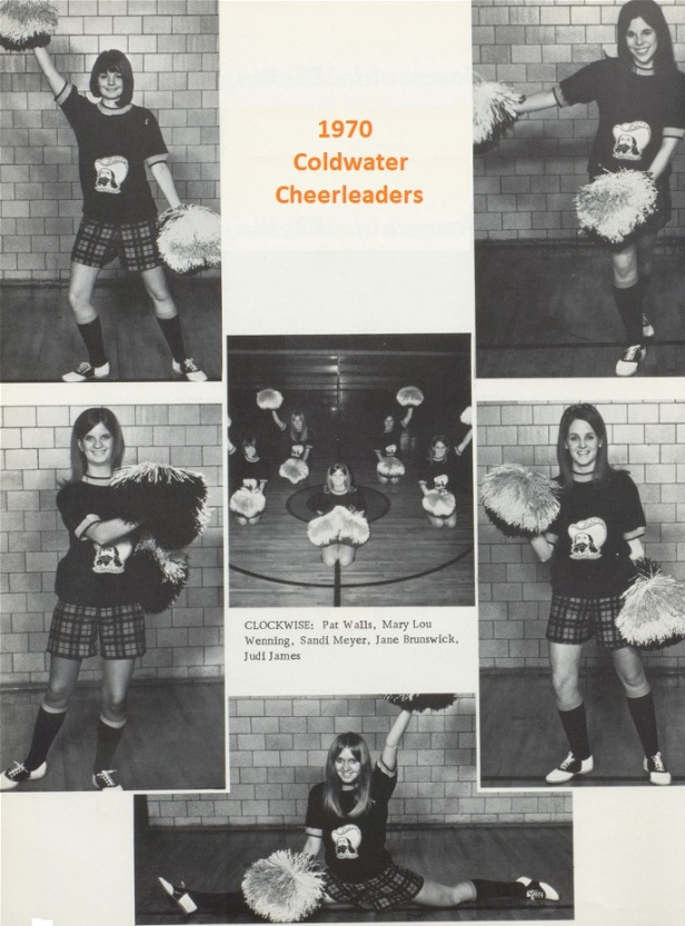 1970 Coldwater Cheerleaders