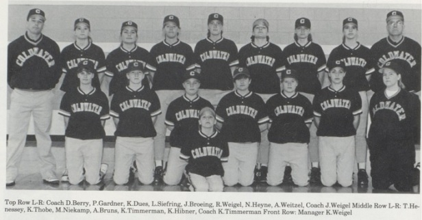 1996 Coldwater SB team