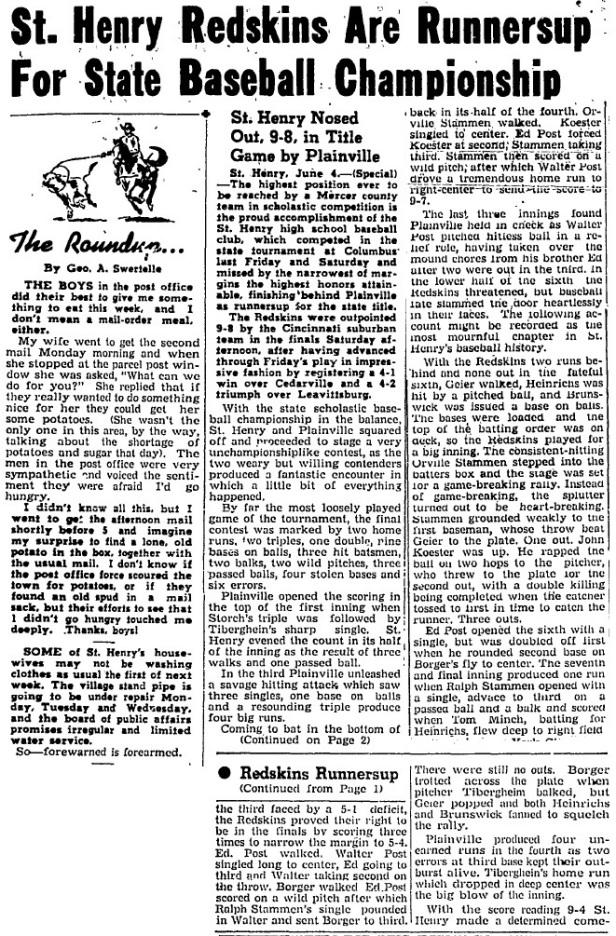 1945 SH Baseball Class B article
