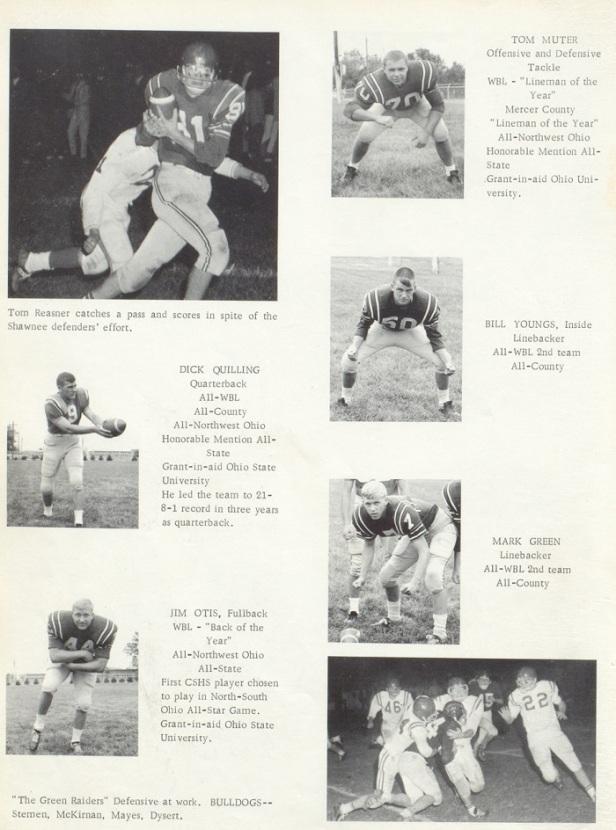 1966 Celina Sr High school FB players 1