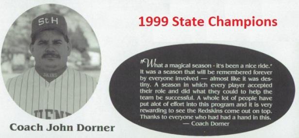1999 SH Baseball Coach Dorner