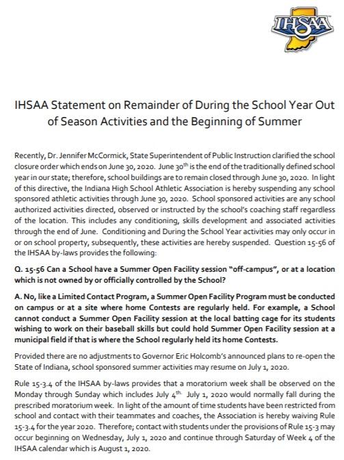 IHSAA July 1st