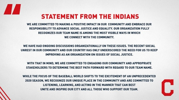 Indians statement