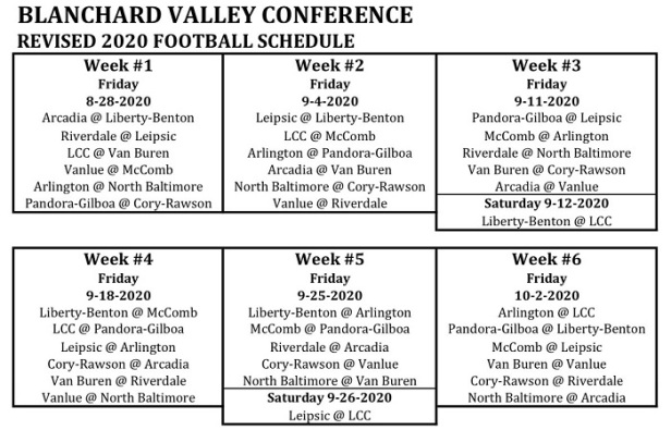 BVC FB sched
