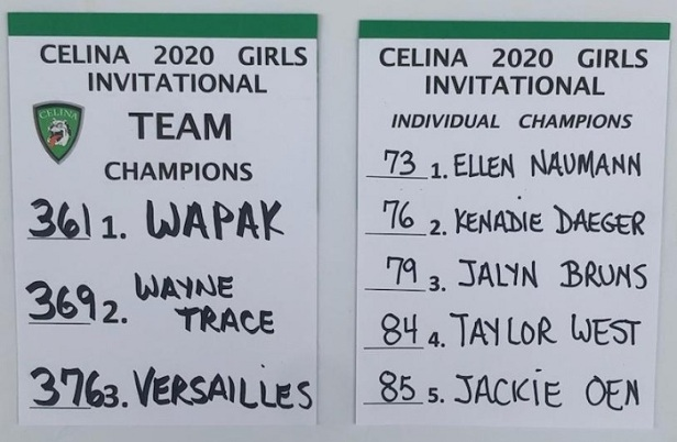 Celina Girls Golf 2020 Inv 1