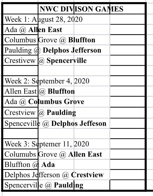NWC FB Sched